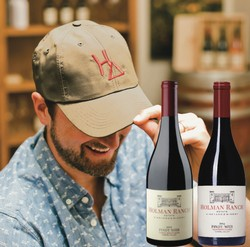 Father's Day Pinot Noir & Khaki Hat Gift Set